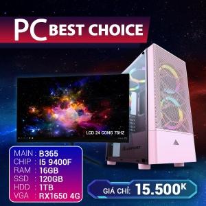 CH10 Core I5 9400F Ram 16G VGA 1650 4G SSD 120G LCD 24 Cong 75Hz