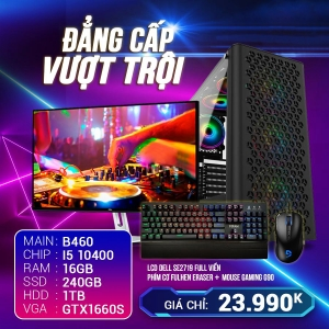 CH11 Core I5 10400 Ram 16G VGA 1660S 6G SSD 240G LCD 24 Cong 75Hz
