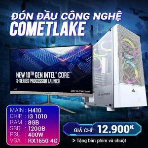 CH9.1 Core I3 10100 Ram 8G VGA 1650 4G SSD 120G LCD 24 Cong 75Hz