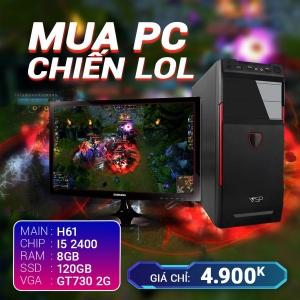 CH2 Core I5 2400 Ram 8G VGA GT730 SSD 120G LCD 20