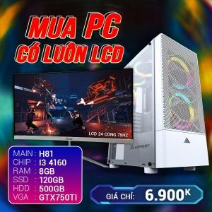 CH4 Core i3 4160 Ram 8G VGA 750Ti SSD 120G LCD 24 Cong