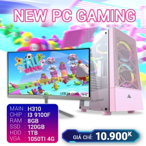 CH8 Core I3 9100F Ram 8G VGA 1050TI 4G SSD 120G LCD 24 Cong 75Hz