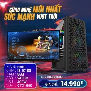 CH9 Core I3 10100 Ram 8G VGA 1650 4G SSD 240G LCD 24 Cong 75Hz